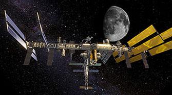 Bilde fra en av filmene i planetariet