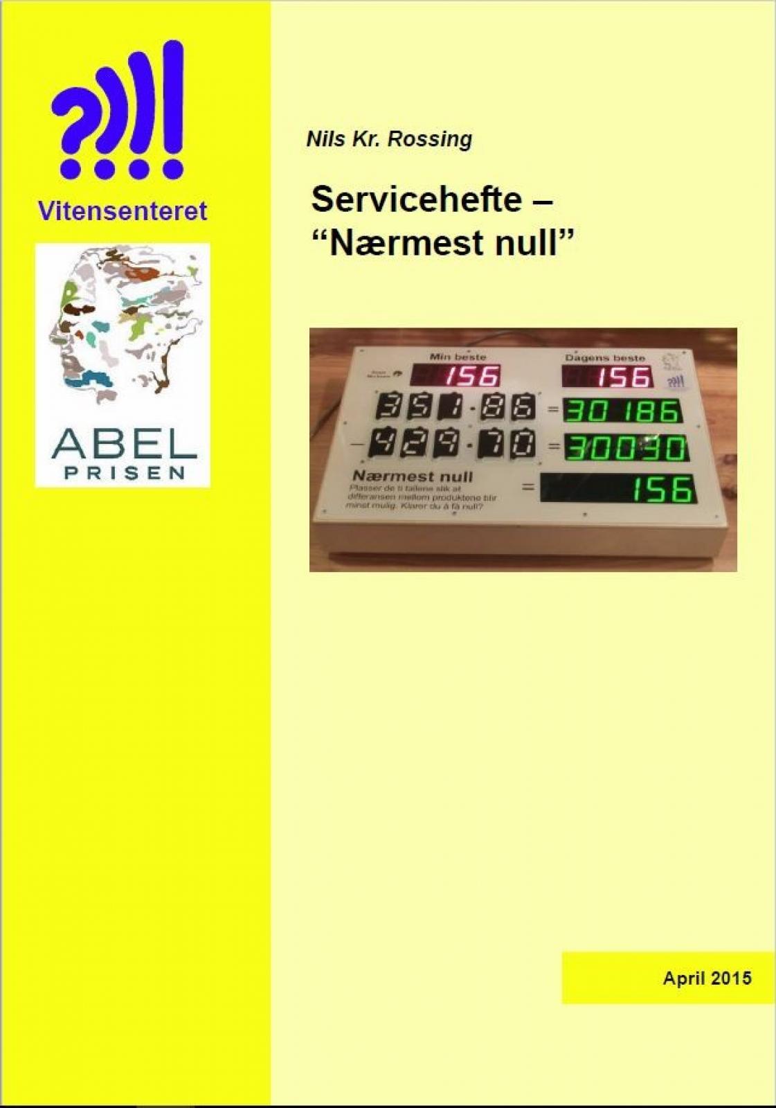 Servicehefte - Nærmest null forside